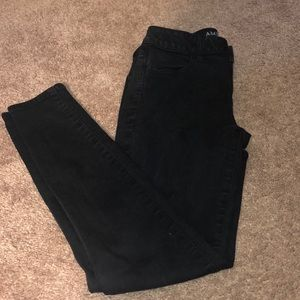 2 Short American eagle black super stretch jeans